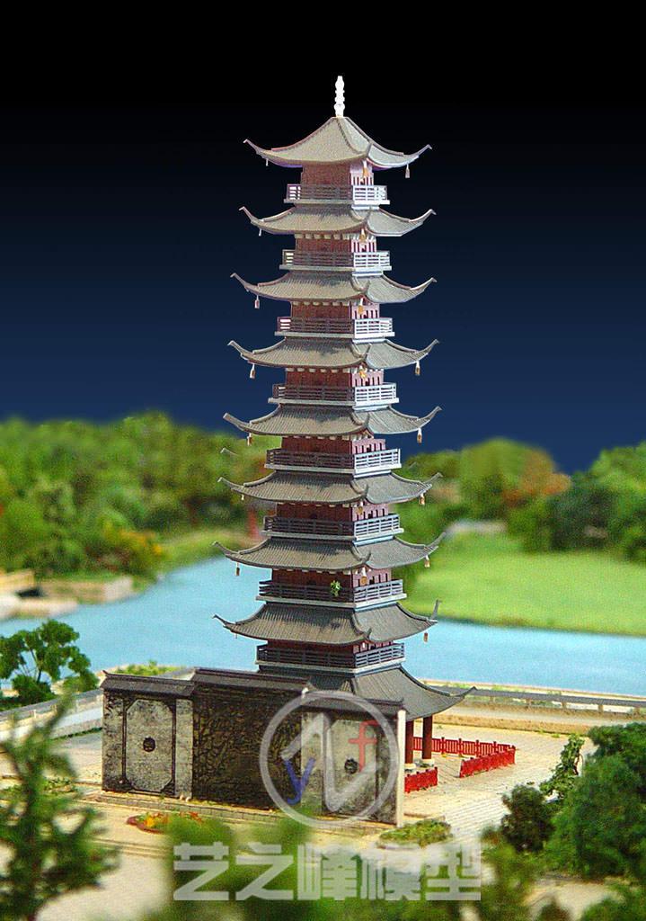 松江方塔园模型